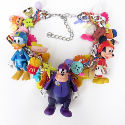 Mickey Mouse Charm Statement Necklace