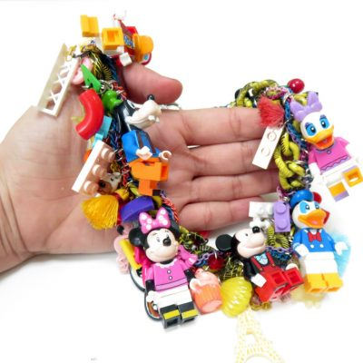 Mickey Mouse Minifigure LEGO Charm Necklace