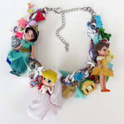 Princess Jasmine Cinderella Dolls Necklace