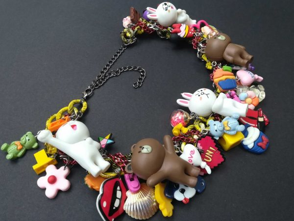 Brown and Cody Line Statement Necklace