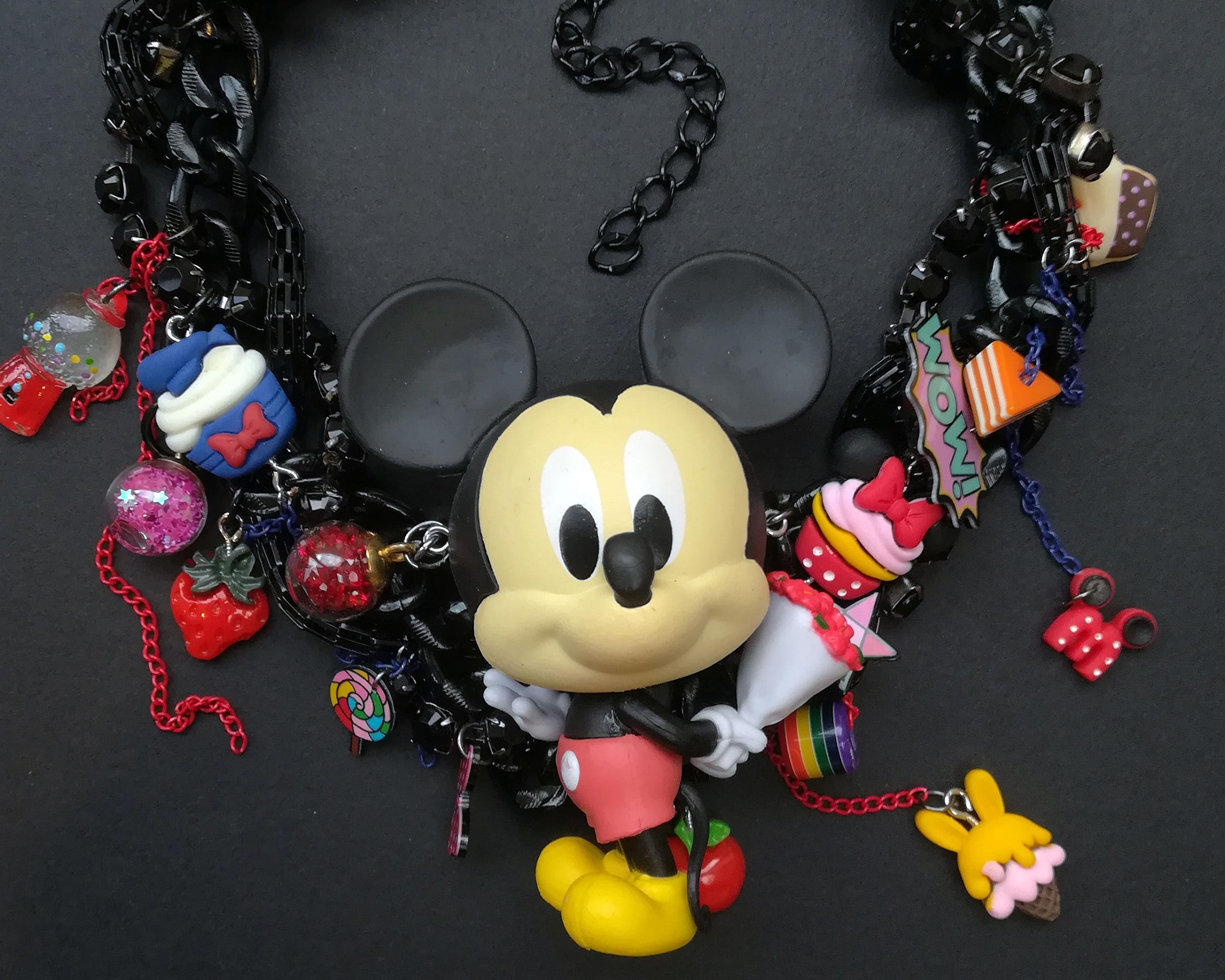 kitsch mickey mouse necklace full
