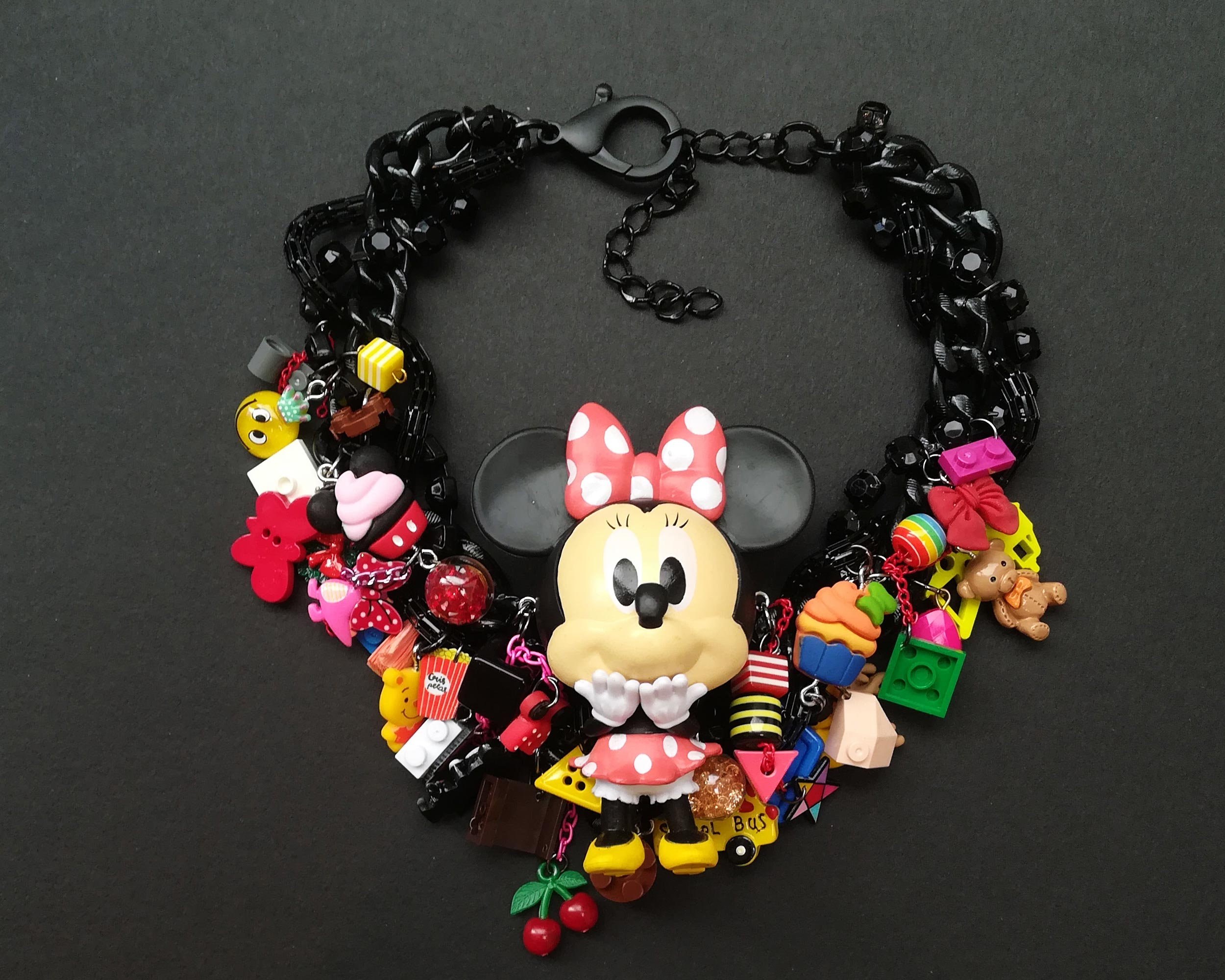 chibi minnie mouse statement necklace
