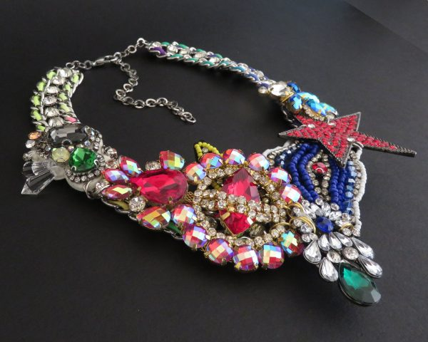 Red Star Crystal Necklace